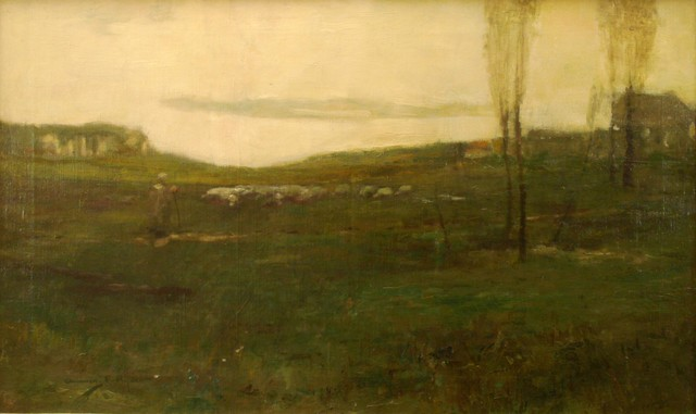 Chauncey Ryder, 'French Landscape', ca. 1900, Painting, Oil on canvas, Private Collection, NY