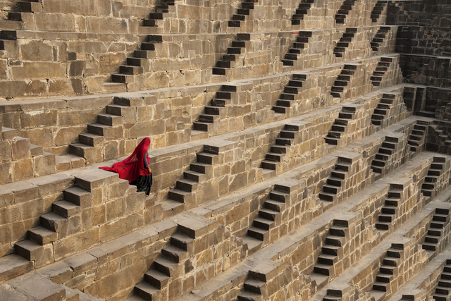 , 'Woman in Chand Baori Stepwell, Abhaneri, India,' 2016, Cavalier Galleries