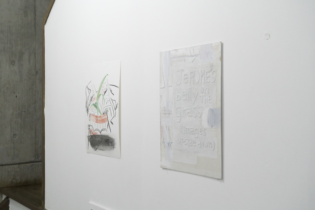 Moe Yoshida Veggetti, 'Dyed hair same color as wall', 2018, Drawing, Collage or other Work on Paper, Pencil, pastel, charcoal on paper., GALLERY TAGA 2