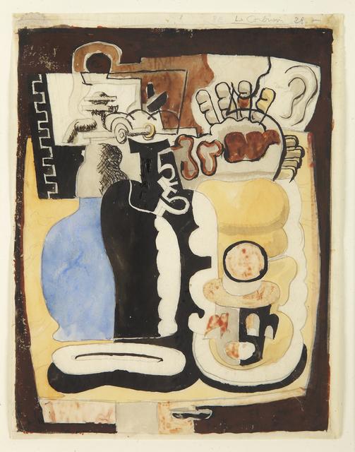 """, 'Etude pour """"Siphon et Blocks"""",' 1928, Galerie Le Minotaure"""