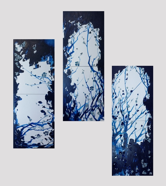 Hyo Bin Kwon, 'Blue and white Impressions - TREE', 2019, Kate Oh Gallery