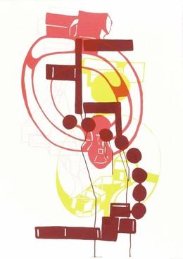 Joanne Greenbaum, 'Untitled Outtakes: #9', 2002, Lower East Side Printshop