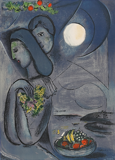 Marc Chagall, 'Saint Jean Cap Ferrat', 1952, Print, Lithograph in colors, Rago/Wright