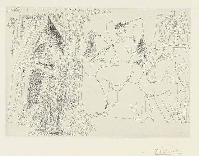 Pablo Picasso, 'Raphaël et la Fornarina. VIII: Le Pape entre, avec un sourire patelin (B. 1783; Ba. 1800)', 1968, Print, Etching, Sotheby's