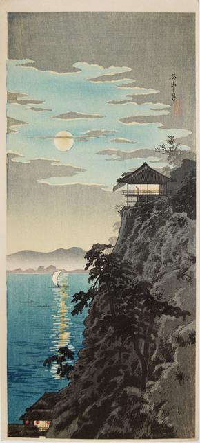Hiroaki Takahashi (Shotei), 'Moon at Ishiyama, Lake Biwa', ca. 1936, Ronin Gallery