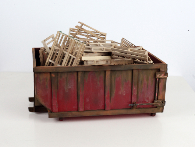 , 'Large Red Dumpster with 30 pallets,' , Visions West Contemporary