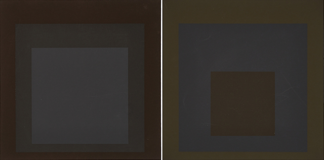Josef Albers, 'Two works of art: Profundo from the portfolio Soft Edge-Hard Edge, 1965; Late from the portfolio Soft Edge-Hard Edge, 1965', Rago