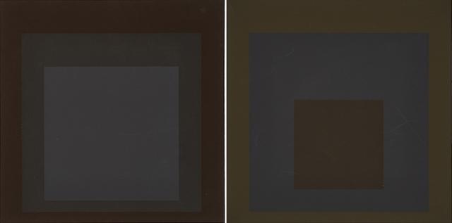 Josef Albers, 'Two works of art: Profundo from the portfolio Soft Edge-Hard Edge, 1965; Late from the portfolio Soft Edge-Hard Edge, 1965', Print, Screenprint in colors, Rago/Wright