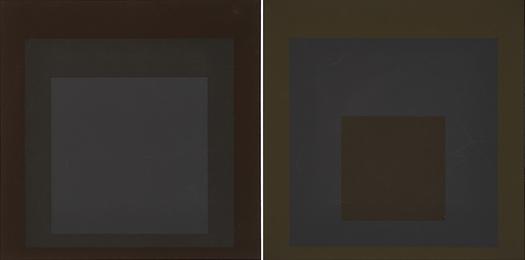 Two works of art: Profundo from the portfolio Soft Edge-Hard Edge, 1965; Late from the portfolio Soft Edge-Hard Edge, 1965