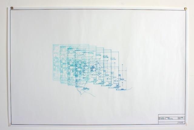 , 'Architectural Plan IV Deconstruct,' 2014, Adah Rose Gallery