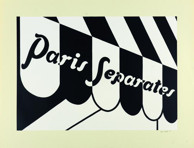 , 'Paris Separates,' 1973, Sims Reed Gallery