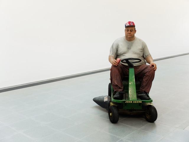 , 'Man on Mower,' 1995, Serpentine Galleries