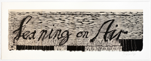 Leaning on Air from the Triumphs and Laments Woodcut Series