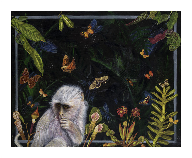 Jana Nicole, 'IN THE NIGHT GARDEN, Limited Edition of 10. Hand embellished with Color Pencil', 2017, Flat Space Art