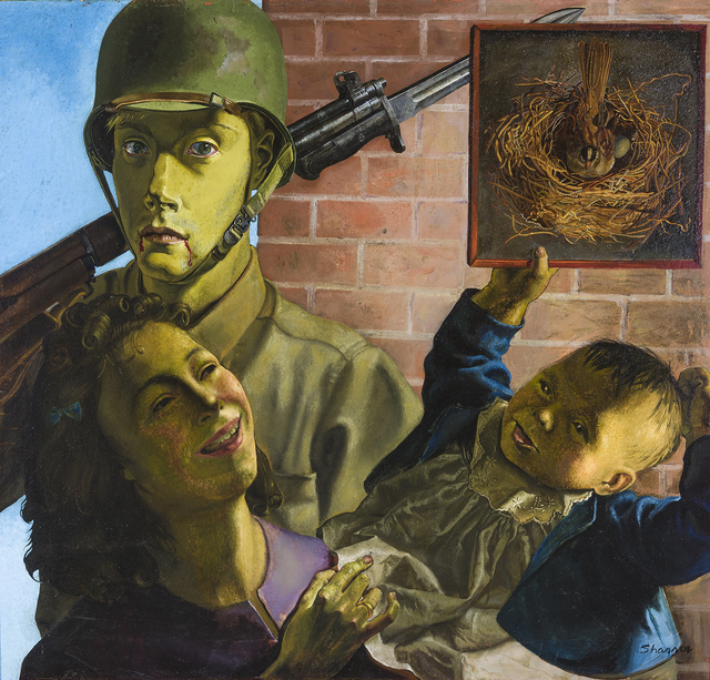 , 'Soldier, Wife, and Child,' , Hirschl & Adler