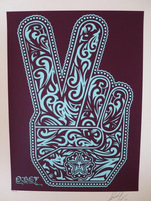 Shepard Fairey, 'Obey Peace Fingers', 2010, AYNAC Gallery