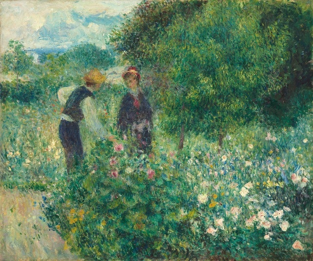 , 'Picking Flowers ,' 1875, Seattle Art Museum