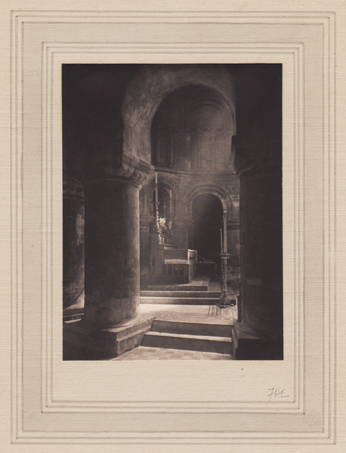 , 'Aisle to Altar, Priory of St. Bartholomew the Great,' Neg. date: 1912 / Print date: 1912, Alan Klotz Gallery