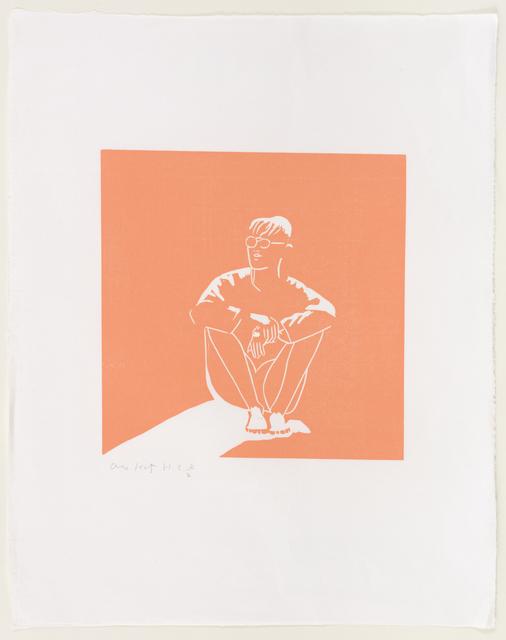 Alex Katz, 'Jonas', 1993, Print, Woodcut, Sina plywood block hand painted in pink, Marlborough New York