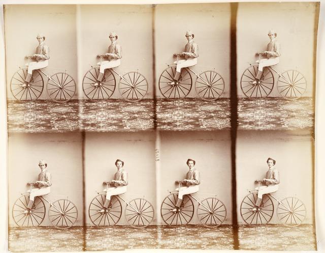 André Adolphe-Eugené Disdéri, 'Michaux sur son vélocipède (Michaux on His Bicycle)', 1867, San Francisco Museum of Modern Art (SFMOMA)