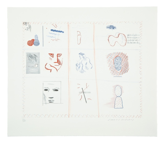 David Hockney, 'Franco-American Mail from The Blue Guitar) (MCA Tokyo 182)', 1976-1977, Forum Auctions