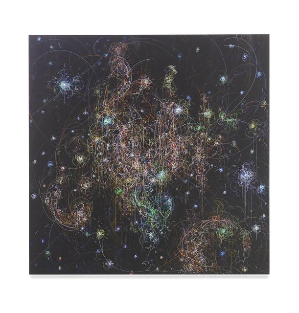 , 'blow up 362 - the long goodbye (hello, hello) - subatomic decay patterns and reflection nebula NGC 7129,' 2018, Nancy Littlejohn Fine Art