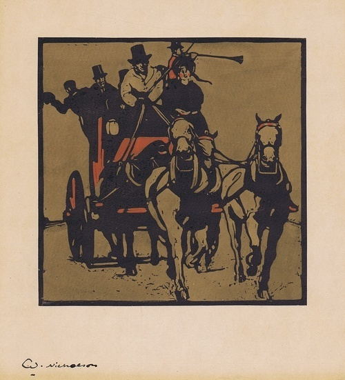 , 'Coaching,' 1898, Gerrish Fine Art