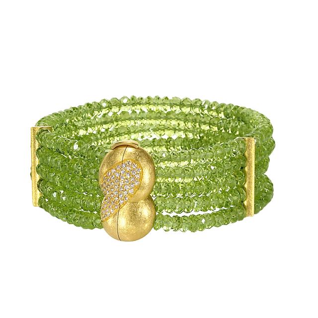 , 'Green Peridot & Diamond Bracelet,' 2012, Szor Collections