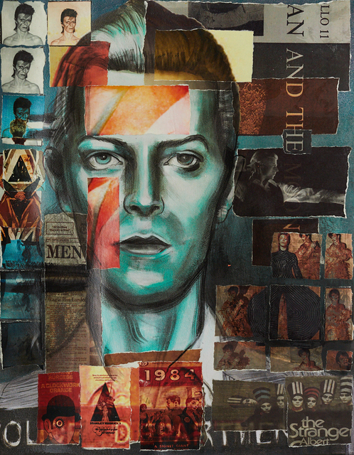 , 'David Bowie (Collaged Print #3),' 2018, Hudson Milliner Art Salon