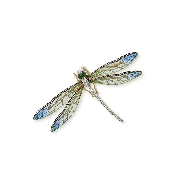 , 'A Diamond set Enamelled Dragonfly Brooch,' ca. 1905, Wartski