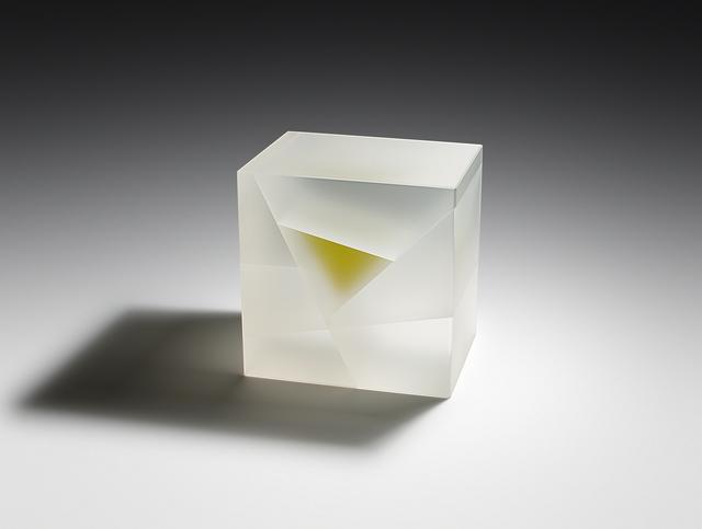 , 'White Green Cuboid Segmentation,' 2017, Duane Reed Gallery