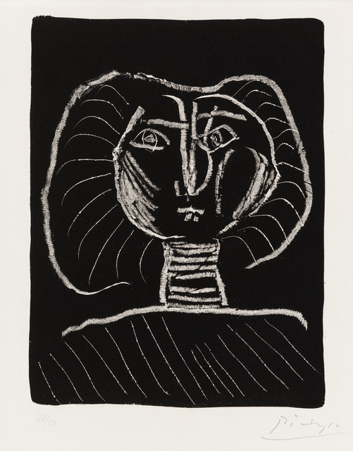 Pablo Picasso, 'Woman's Head on a Black Background', 1945, Christopher-Clark Fine Art