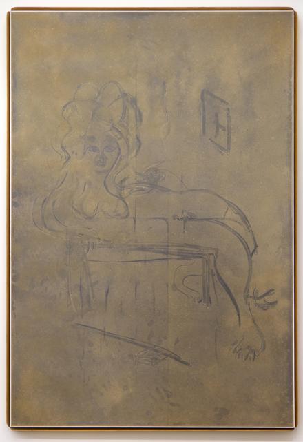 , 'Custom Dust Drawing (Reclining Nude),' 2015, David Petersen Gallery