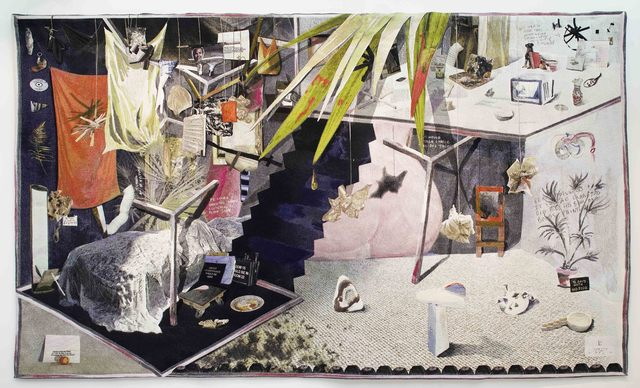 Laure Prouvost, 'The Artist Studio', 2018, Textile Arts, Tapestry, Galerie Nathalie Obadia