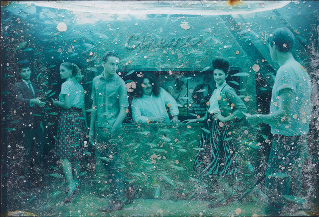Andreas Franke, 'Rendezvous with Ester (The Sinking World–Vandenberg Project)', 2011, Mixed Media, Photographic print mounted on dibond behind acrylic with ocean patina, Rosenbaum Contemporary