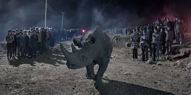, 'River of People with Blind Rhino ,' 2018, Atlas Gallery