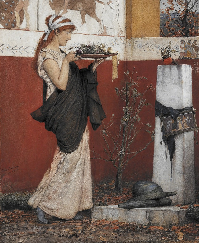 Lawrence Alma-Tadema, A Votive Offering, 1873, Lady Lever Art Gallery, National Museums Liverpool, Photo: © Courtesy of National Museums Liverpool, Lady Lever Art Gallery