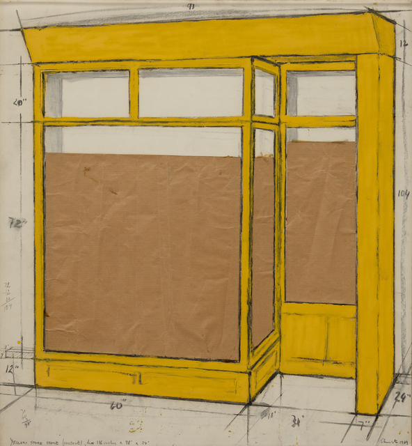 , 'Yellow Store Front (Project),' 1964, Omer Tiroche Gallery