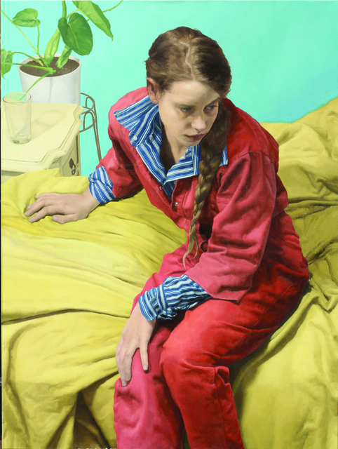 , 'Xanthe in Red,' 2018, New York Academy of Art