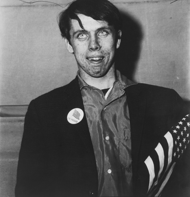 , 'Patriotic Young Man with a Flag, N.Y.C.,' 1967, ROSEGALLERY