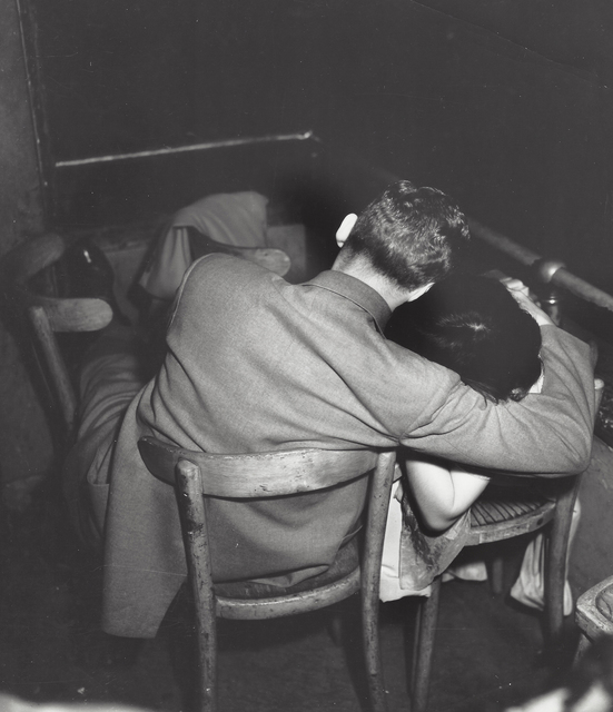 Weegee, 'Man and woman in a movie theater (infra-red)', ca. 1950, Elizabeth Houston Gallery