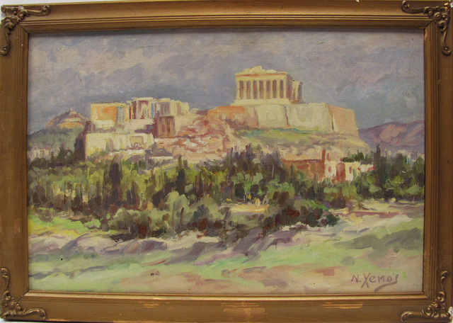 Nikos Xenos, 'View of the Acropolis', 1940-1960, EastCoastArt