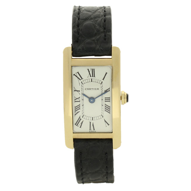 , '18ct yellow gold Tank 'Cintrée' wristwatch.,' 1968, Somlo London