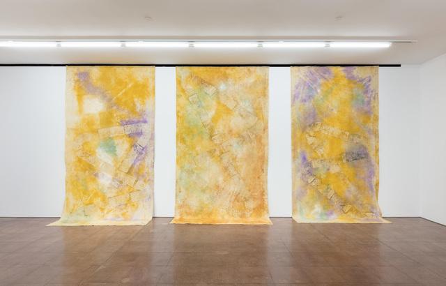 Jessica Warboys, '3x River Wax Painting X (I, II, III)', 2019, Hales Gallery