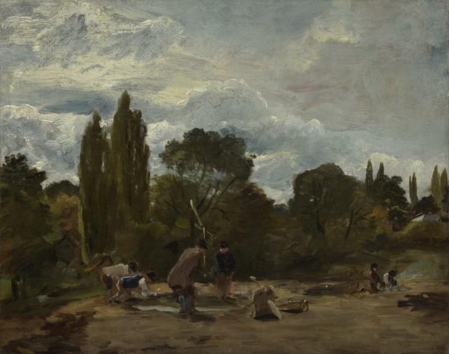 , 'Flailing Turnip-Heads, East Bergholt,' 1812-1815, Clark Art Institute