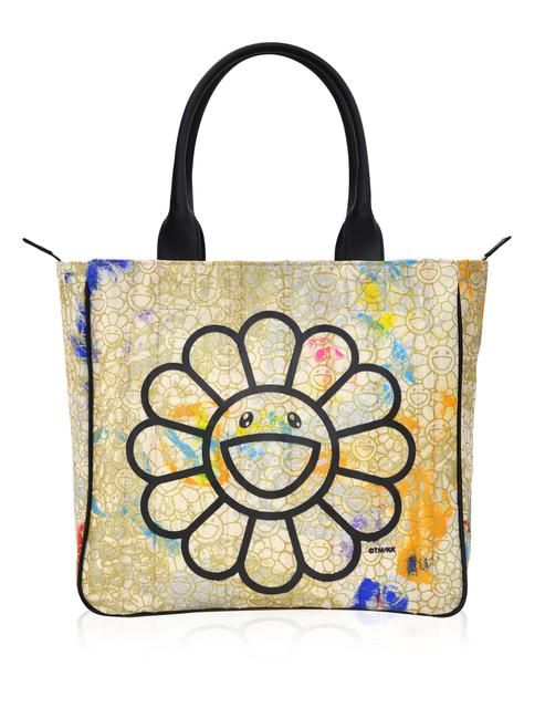 Takashi Murakami, 'Canvas Handbag - Gold Flowers / Black / Skulls Interior *', 2019, Perrotin