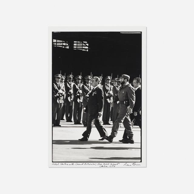 René Burri, 'Fidel Castro with Leonid Brezhnev, Jose Marti Airport, Cuba', 1974, Rago/Wright