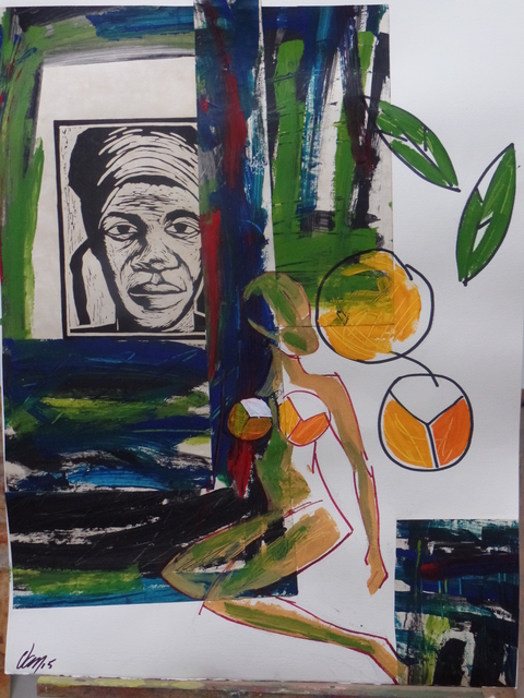 "Francisco ""Van"" Van-Dúnem, 'Quitandeira 2', 2015, Tamar Golan Gallery"