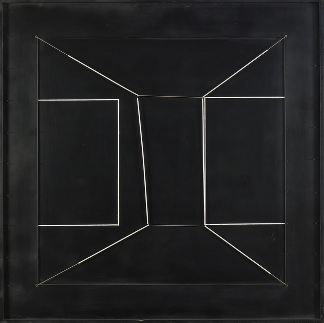, 'Spazio elastico intermutabile, due doppi quadrati incompiuti (Intermutable Elastic Space, Two Incomplete Double Square),' 1979, Robilant + Voena