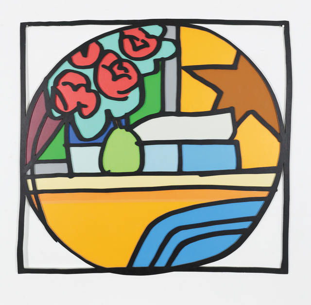 Tom Wesselmann, 'Still Life with Four Roses and Pear (Blue Pillow) (With Black) 1968', 1993, Bernard Jacobson Gallery